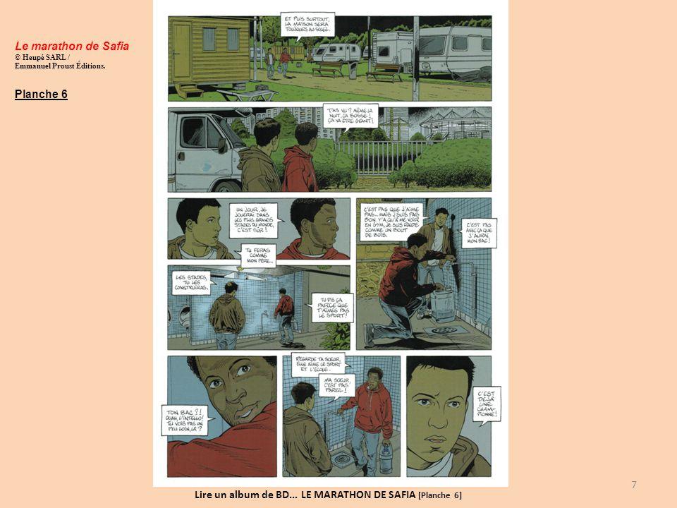 Lire un album de BD... LE MARATHON DE SAFIA [Planche 6]